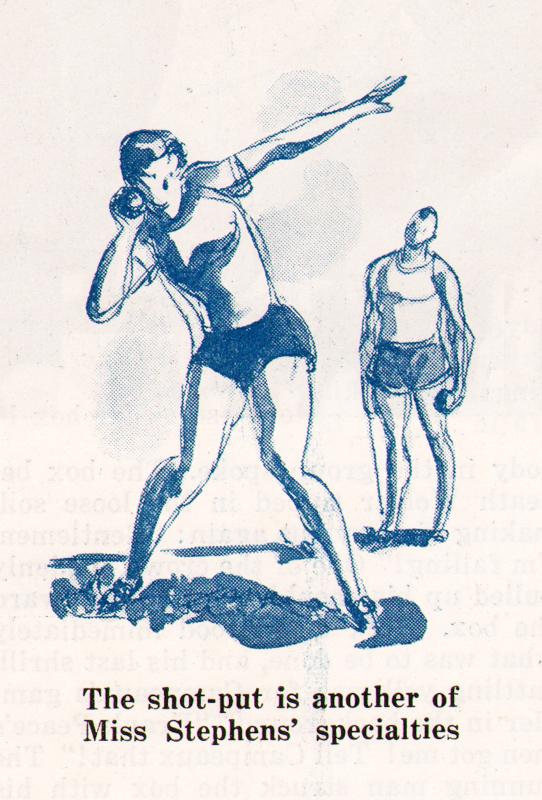 Gregor Duncan Helen Stephens 1936 Olympics Collier's
