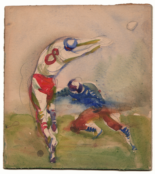 Gregor Duncan Football Watercolor