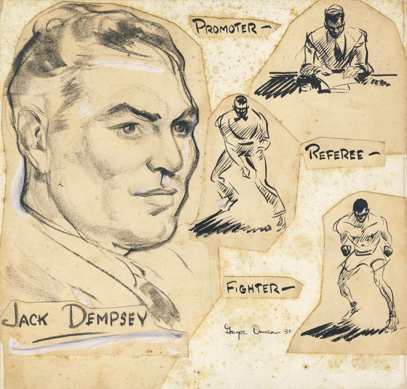 Gregor Duncan Jack Dempsey Boxing Boxer 1931