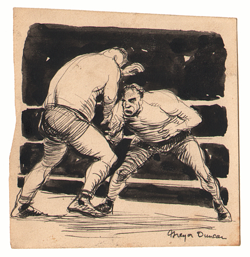 Gregor Duncan Wrestlers Sketch
