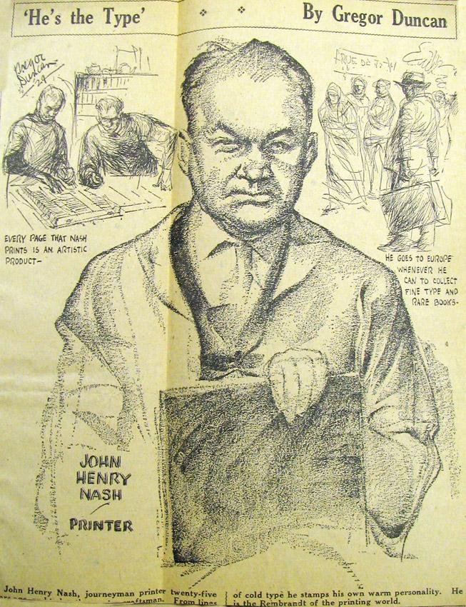 John Henry Nash Gregor Duncan 1929