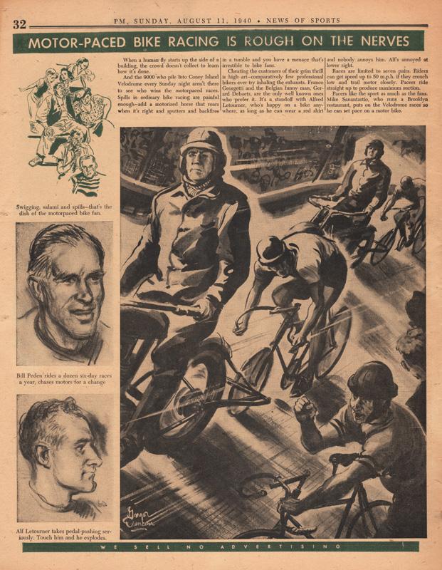 Gregor Duncan PM Newspaper Velodrome 1940