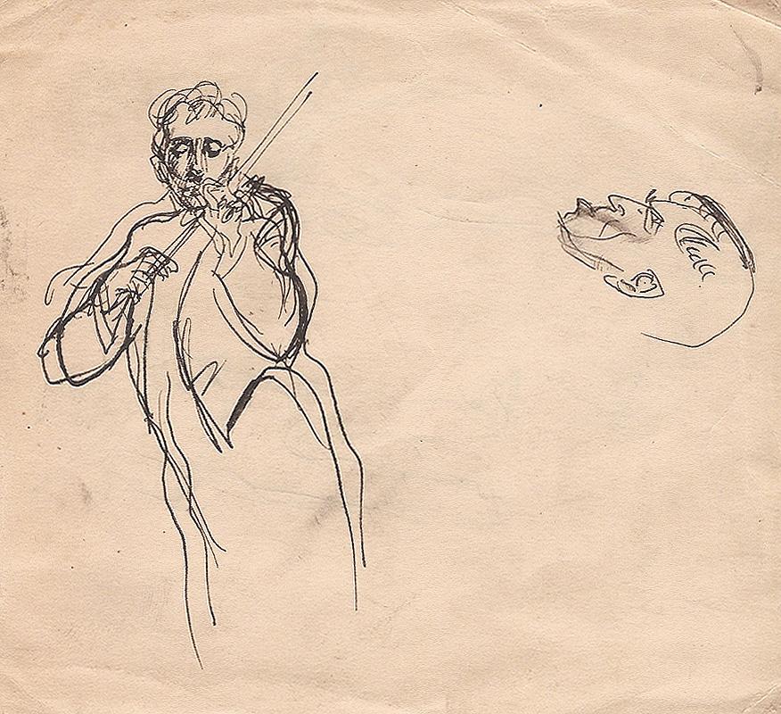 Gregor Duncan Ink Sketch Violinist